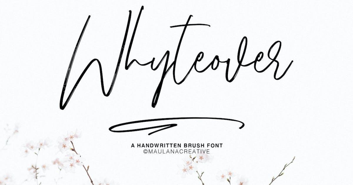 Download Whyteover Typeface by maulanacreative