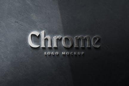 Chrome Logo Mockup