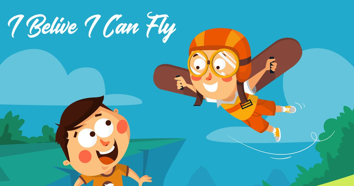 Download I Belive I Can Fly - Mascot & Esport Logo by aqrstudio