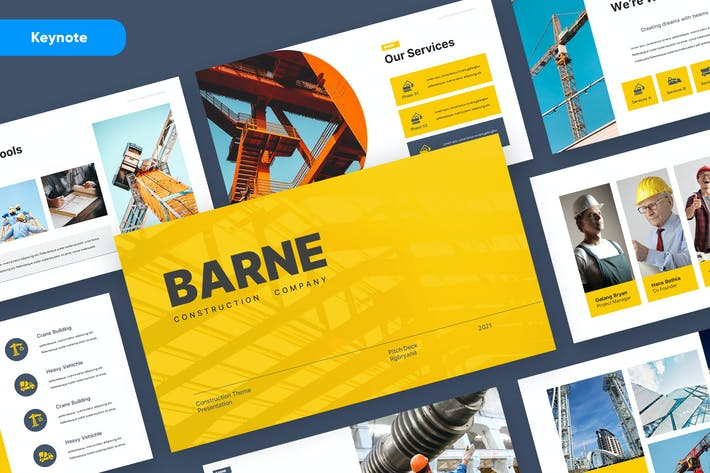 Thumbnail for BARNE - Construction Keynote Template