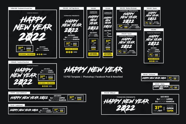 Happy New Years Banners Ad
