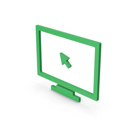 Symbol Monitor With Arrow Green