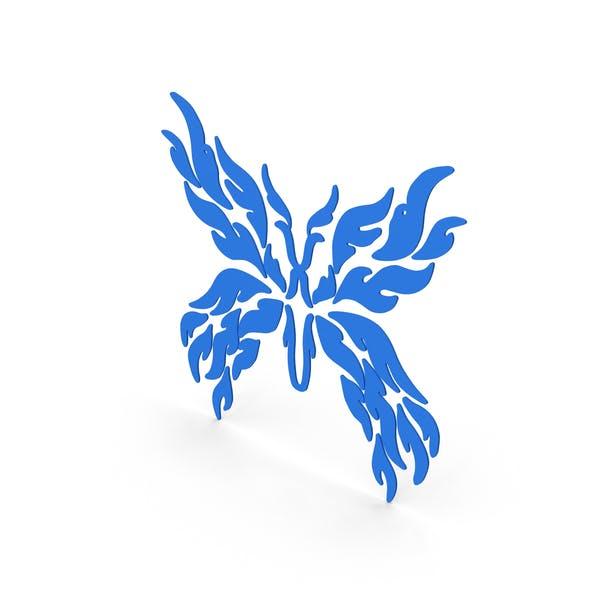 Schmetterling Aufkleber Blau