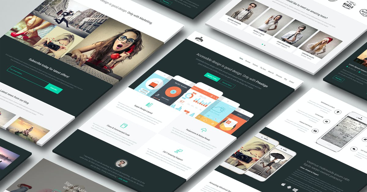 Download Prestige - Landing Page Template by Epic-Themes