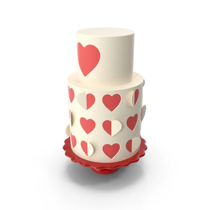 Herz-Kuchen ausgeschnitten