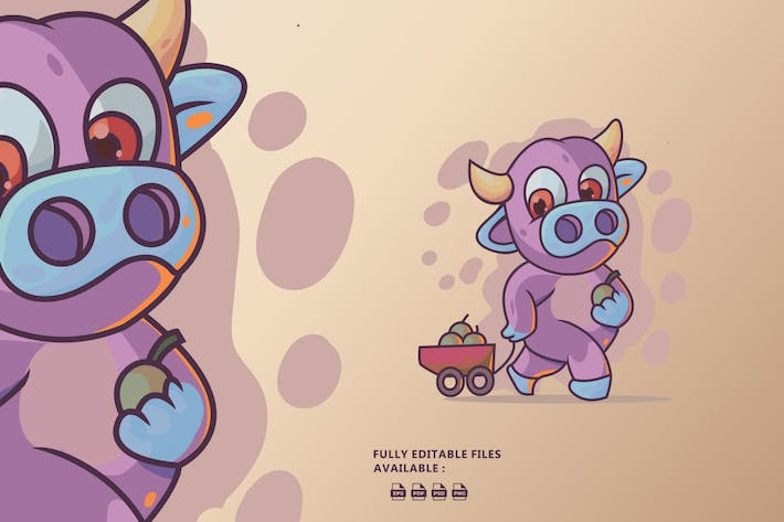 Cute Cow Illustration