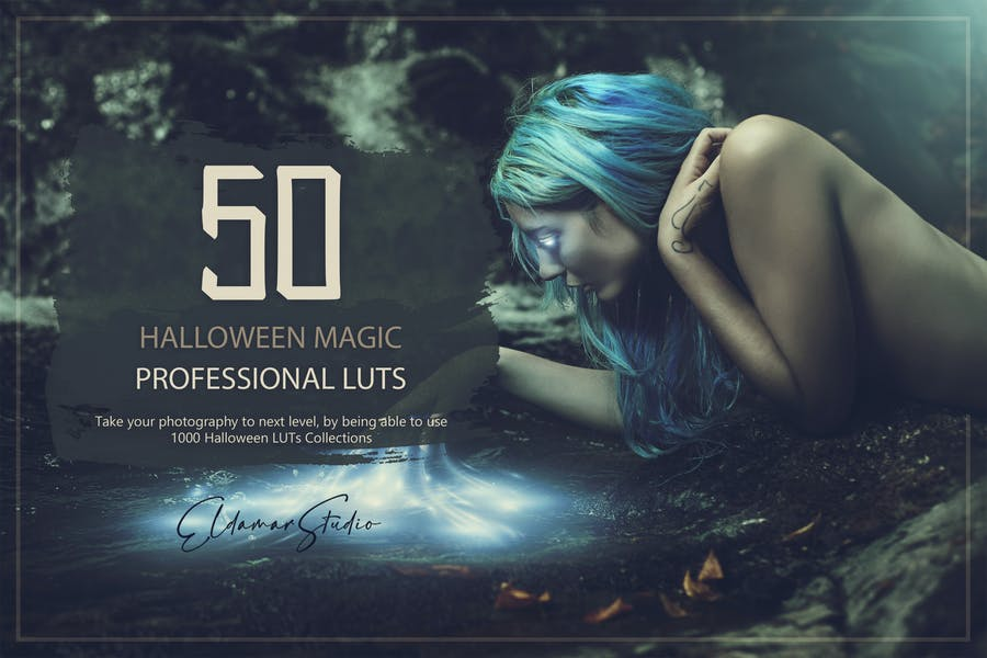 50 Halloween Magic LUTs and Presets Pack