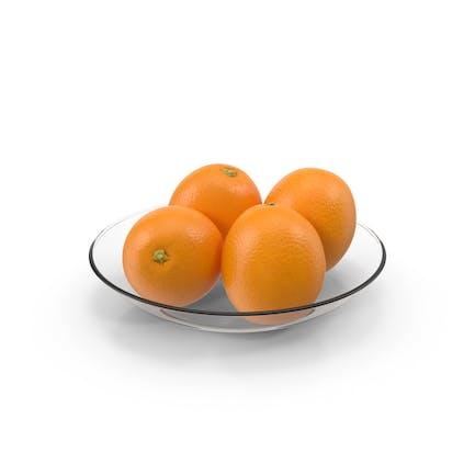 Tafelglas mit Orangen