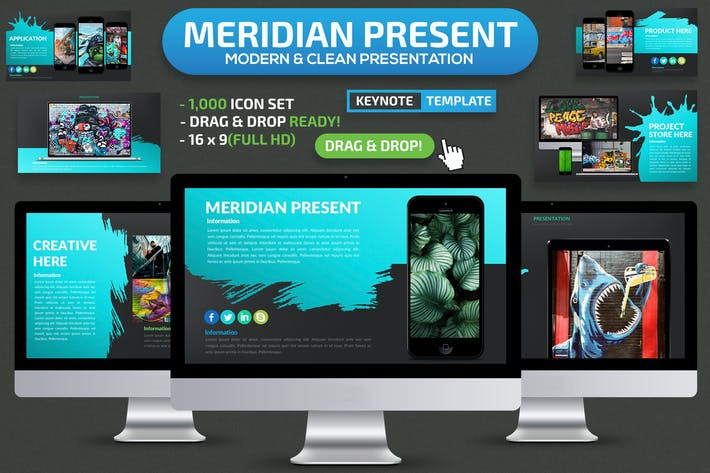 Cover Image For Meridian Keynote Presentation Template