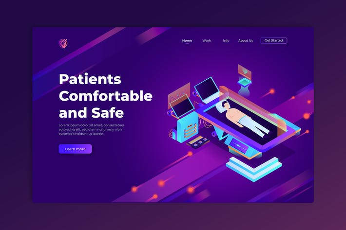 Patients Comfortable and Safe - Landing Page