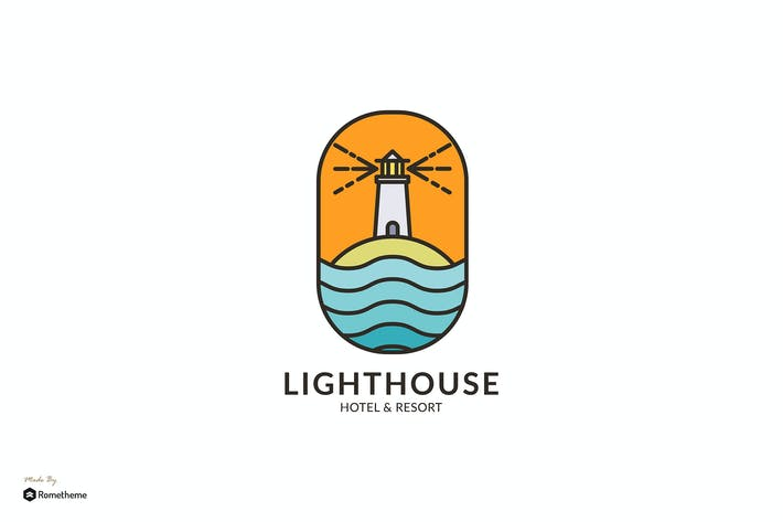 Thumbnail for Lighthouse Hotel & Resort - Шаблон логотипа RB