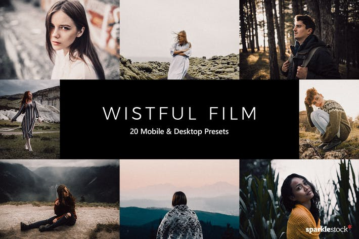 Thumbnail for 20 Wistful Film Lightroom Presets & LUTs