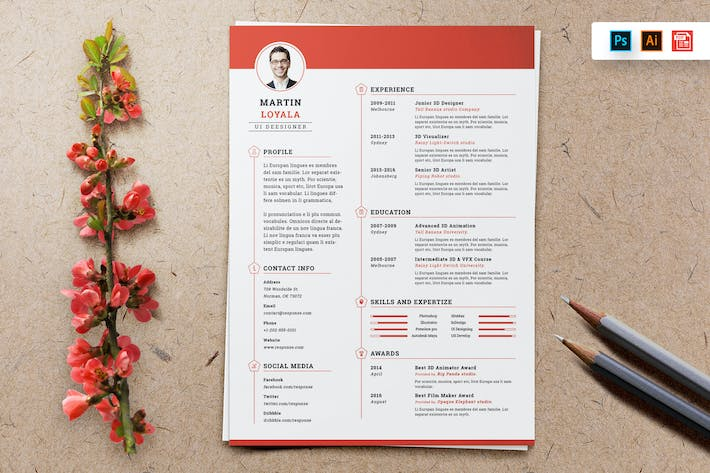 Cover Image For Resume CV Template-18