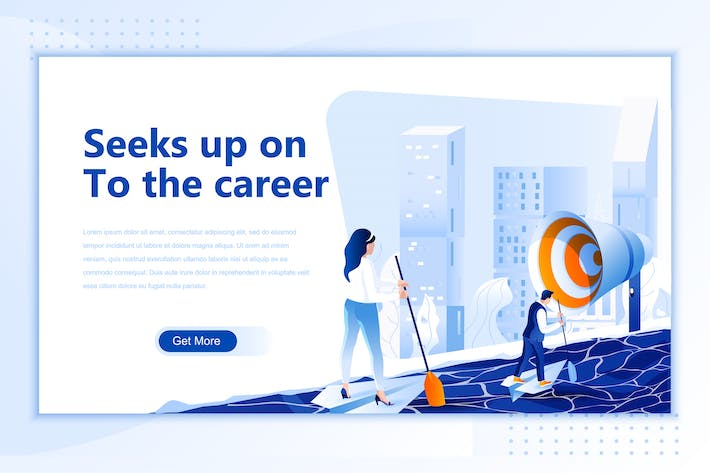 Thumbnail for Seeks Up On To The Career Flat Landing Page Header