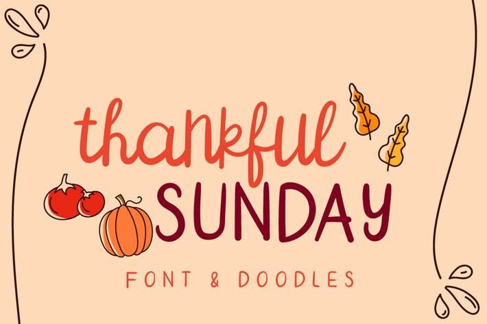 Thumbnail for Thankful Sunday Font Duo