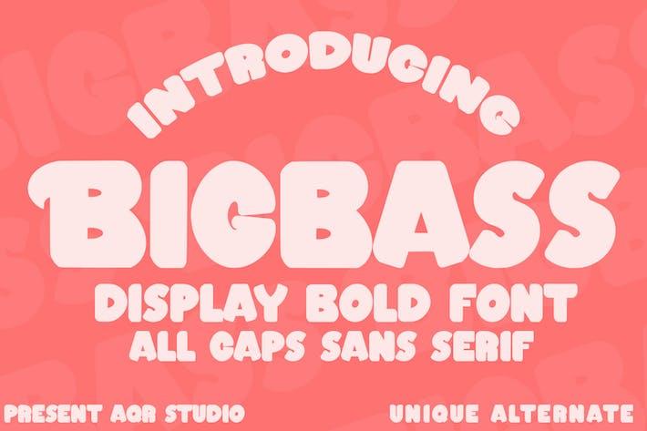 Bigbass - Display Bold Font