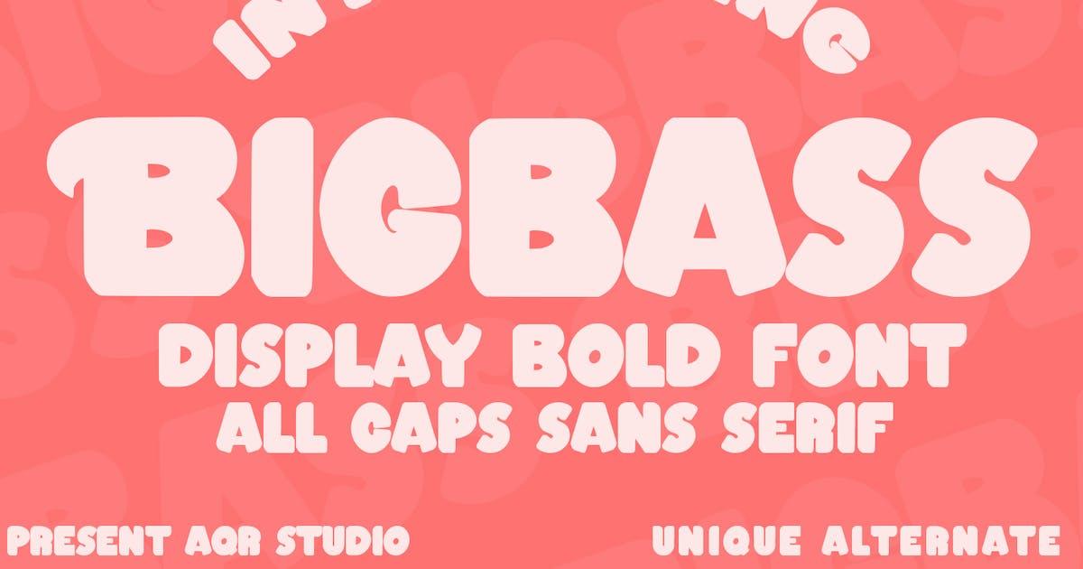 Download Bigbass - Display Bold Font by aqrstudio