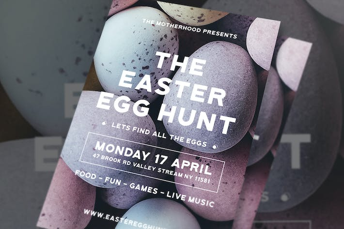 Thumbnail for Modern Easter Egg Flyer