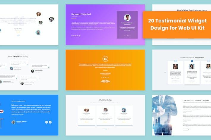 20 Testimonial Widget Design for Web-UI Kit
