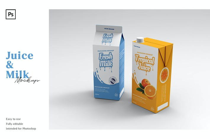 Thumbnail for Saft- und Milch-Mockup