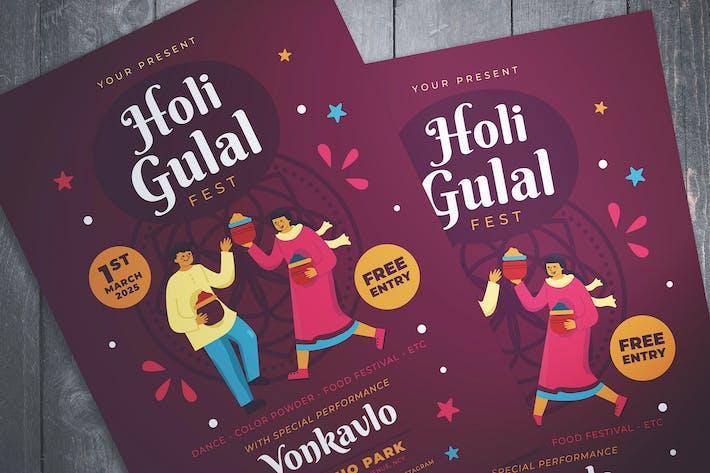 Thumbnail for Holi Gulal Fest Flyer