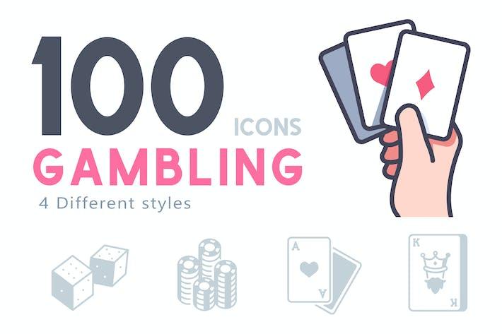 Thumbnail for 100 Glücksspiel-Symbol-Set