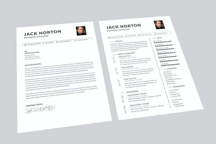 Thumbnail for Jack Business Resume Designer