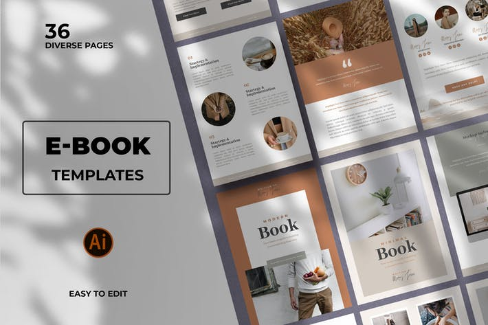 Thumbnail for Modern Ebook Templates in Vector Format