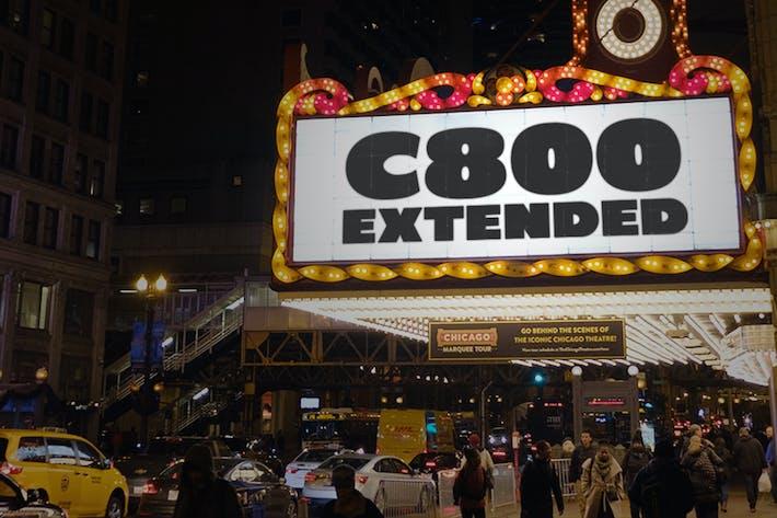 C800 Extended - Bold Sans Font