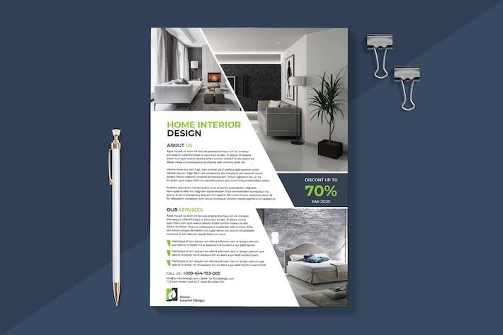 Thumbnail for Modern Interior Flyer Template