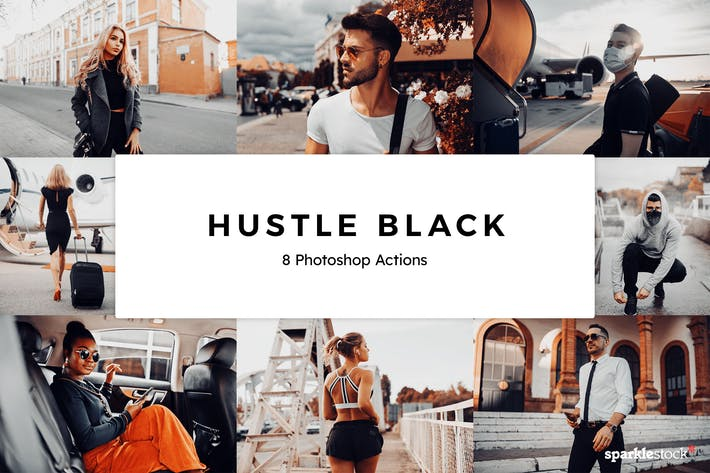 Thumbnail for 8 Hustle Black Photoshop Actions