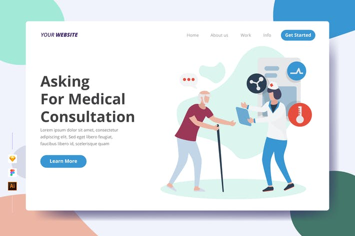 Thumbnail for Asking For Medical Consultation - Landing Page