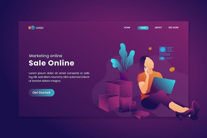 Marketing Online Verkauf Online Auf Landing Page