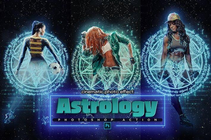 Астрология Космический Photoshop Действие