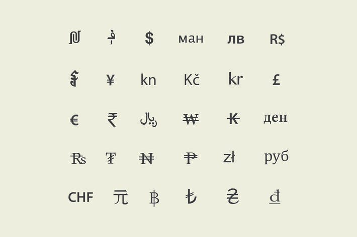 Currency Symbols By Creativevip On Envato Elements