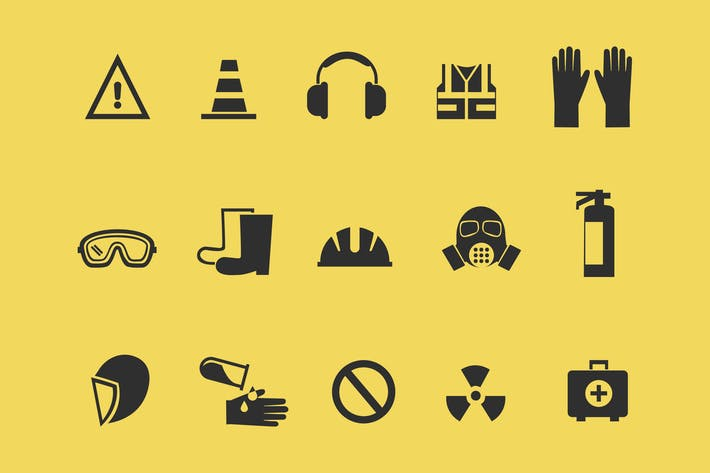 15 health and safety icons by creativevip on envato elements