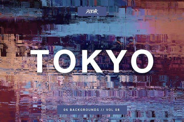 Tokyo| City Glitch Backgrounds | Vol. 08