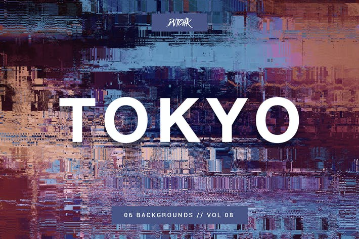 Thumbnail for Tokyo| City Glitch Backgrounds | Vol. 08