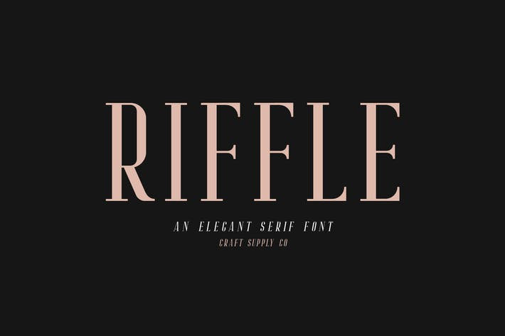 Thumbnail for Familia de fuentes Riffle