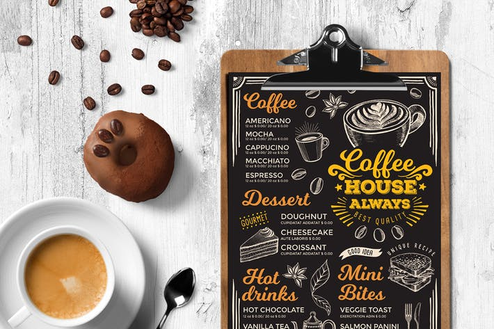 Cover Image For Coffee Menu Template
