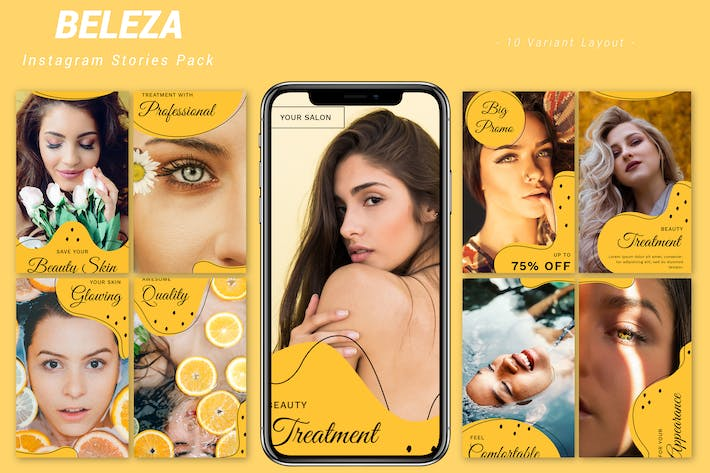 Cover Image For Beleza - Instagram Story Pack