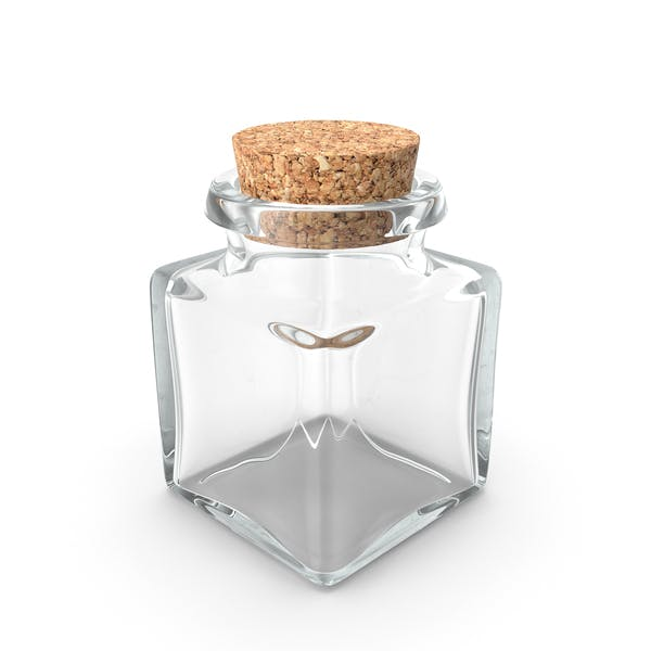 Glass Jar with Cork Stopper