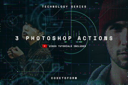 Technology Series Photoshop Actions