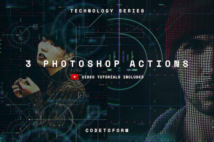 Thumbnail for Acciones de Photoshop serie Technology