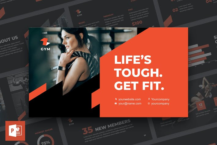Thumbnail for Gym PowerPoint Presentation Template