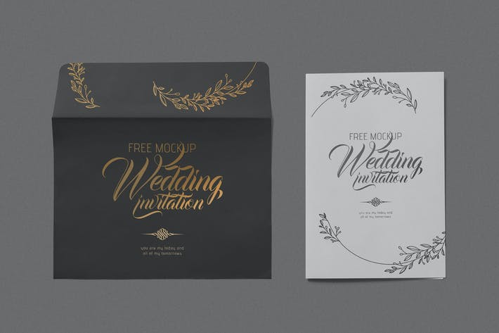 Thumbnail for Elegant Wedding Invitation Mockups