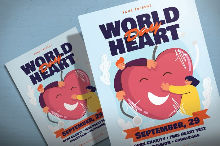 Thumbnail for World Heart Day - Flyer Template