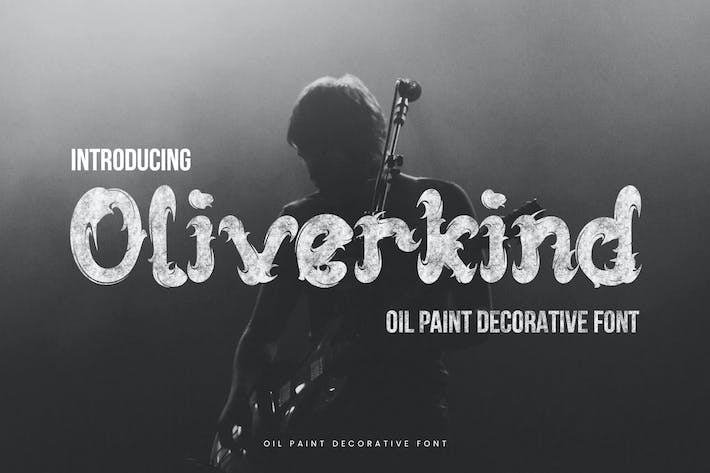 Thumbnail for Oliverkind - Oil Paint Decorative Font