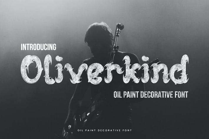 Oliverkind - Oil Paint Decorative Font