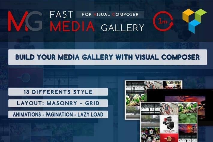 Thumbnail for Fast Media Gallery For Visual Composer - WP Plugin